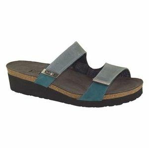 Naot Slate & Teal Jacey Leather Sandal Women 6.5 W